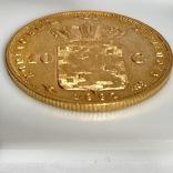 10 гульденов. 1897. Королева Вильгельмина. Нидерланды (золото 900, вес 6,66 г), фото №9
