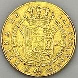 80 реалов. 1845. Изабелла II. Испания (золото 875, вес 6,70 г), фото №7