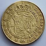 80 реалов. 1845. Изабелла II. Испания (золото 875, вес 6,70 г), фото №9