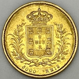 5000 реалов. 1863. Португалия (золото 917, вес 8,82 г), фото №3