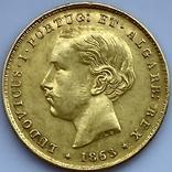 5000 реалов. 1863. Португалия (золото 917, вес 8,82 г), фото №4