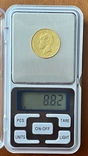 5000 реалов. 1863. Португалия (золото 917, вес 8,82 г), фото №6