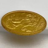 1/2 фунта (1/2 соверена). 1909. Эдуард VII. Великобритания (золото 917, вес 3,97 г), фото №8