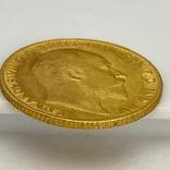 1/2 фунта (1/2 соверена). 1909. Эдуард VII. Великобритания (золото 917, вес 3,97 г), фото №10