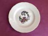 Блюдо-тарелка плоская Птица счастья. Фарфор, Коростень., фото №3