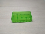 Коробка, бокс, футляр, кейс, для аккумуляторов 18650 зеленый, фото №2