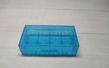 Коробка, бокс, футляр, кейс, для аккумуляторов 18650 голубой, фото №2