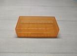 Коробка, бокс, футляр, кейс, для аккумуляторов 18650 оранжевый, фото №2