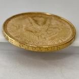 Один Червонец Сеятель. 1975. РСФСР (золото 900, вес 8,64 г), фото №6