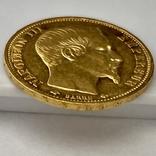 20 франков. 1859. Наполеон III. Франция (проба 900, вес 6,42 г), фото №6