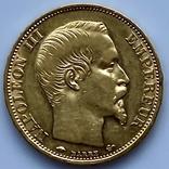 20 франков. 1859. Наполеон III. Франция (проба 900, вес 6,42 г), фото №11