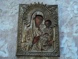 Икона Тихвинская Б.М. в окладе, 22,5х18 см, фото №2