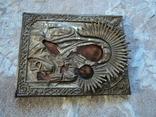 Икона Тихвинская Б.М. в окладе, 22,5х18 см, фото №3