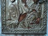 Икона Тихвинская Б.М. в окладе, 22,5х18 см, фото №5