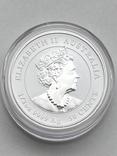 50 центов. 2021. Lunar III - Год Быка. (серебро 999, вес 15,55), фото №3