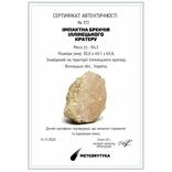 Імпактна брекчія Іллінецького кратеру, 94,3 г, з сертифікатом автентичності, фото №3