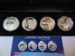 Набор монет - ГОРОДА И ЖИВОТНЫЕ АВСТРАЛИИ - серебро 999, РЕДКИЙ - тираж до 2000, фото №2