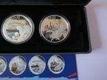 Набор монет - ГОРОДА И ЖИВОТНЫЕ АВСТРАЛИИ - серебро 999, РЕДКИЙ - тираж до 2000, фото №7