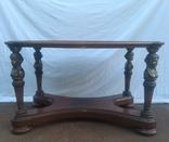 Деревяний стіл з бронзою арт. 0932, фото №3