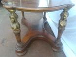Деревяний стіл з бронзою арт. 0932, фото №6