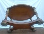 Деревяний стіл з бронзою арт. 0932, фото №7