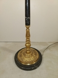 Підлогова лампа, торшер бронзовий з мармуром арт. 0724, фото №9