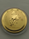 Австралия 200$ год Лошади 2002 год 2 унции золота 9999`, фото №3
