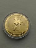 Австралия 200$ год Лошади 2002 год 2 унции золота 9999`, фото №4