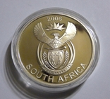 Южная Африка - ДИКАЯ ПРИРОДА. ЧЕРНЫЙ ШАКАЛ - серебро 76,25 грамм - полный комплект, РЕДКАЯ, фото №3