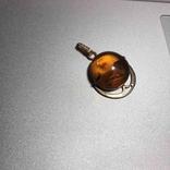 Золотой кулон с янтарем 583 проба ссср, фото №4