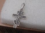 Нательный крест из серебра 925. Новый, родная бирка и пломба ., фото №5