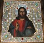 Икона Господь Вседержитель. Оклад горячая эмаль, фото №2