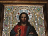 Икона Господь Вседержитель. Оклад горячая эмаль, фото №4
