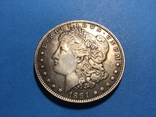 1 доллар сша 1891 СС. Копия, фото №2