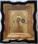 Ікона Казанська Богородиця, латунь 17,7х14,5 см, кіот, фото №3