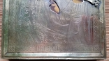 Ікона Казанська Богородиця, латунь 17,7х14,5 см, кіот, фото №10