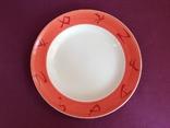 Тарелка обеденная Иероглифы. Фарфор, Буды. Ручная работа., фото №2