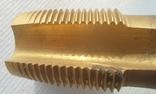 Метчик м/р.трубный G1 титановое покрытие производства Фрезер, СССР, фото №5