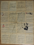 Саксофонист, акрил на страницах старых нотных книг, фото №3