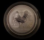 Австралия 2 доллара 2005 год Петуха серебро 2 унции 999 пробы, фото №2
