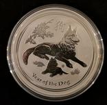 Австралия 2 доллара 2018 год Собаки серебро 2 унции 999 пробы, фото №2