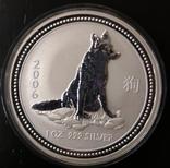Австралия 1 доллар 2006 год Собаки серебро 1 унция 999 пробы, фото №2