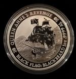 Тувалу Черные Паруса: Месть Королевы Анны 2019 год 1 унция серебро 999, фото №2