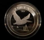 Сент Киттс и Невис 2018 год. Альбатрос. 2 доллара серебро 1 унция 999, фото №2