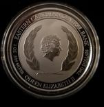 Сент Киттс и Невис 2018 год. Альбатрос. 2 доллара серебро 1 унция 999, фото №3