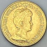 10 гульденов. 1917. Вильгельмина. Нидерланды (золото 900, вес 6,70 г), фото №10