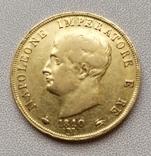 40 лир 1810 г.Италия.Наполеон., фото №3