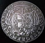 1 таляр /27 грам срібла 900 проби/ Зальцбург 1761 р. ( дуже високоякісна копія), фото №3