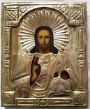 Ікона Ісуса Христа, латунь, позолота, 22,0х18,0 см, фото №2