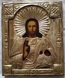 Ікона Ісуса Христа, латунь, позолота, 22,0х18,0 см, фото №3